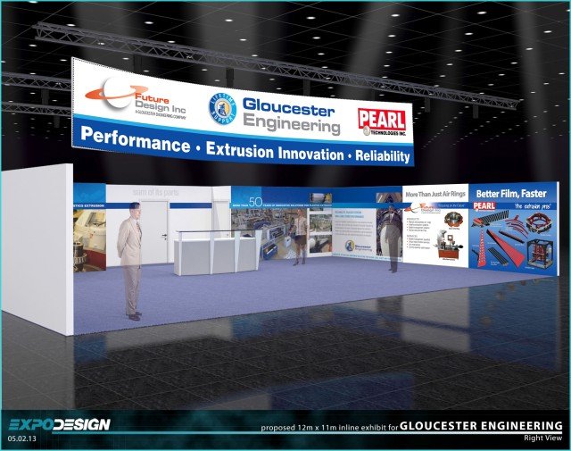 Rendering of what the booth will look like at K 2013.